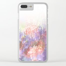Frozen Magical Nature - Peach and Ultra-Violet Clear iPhone Case
