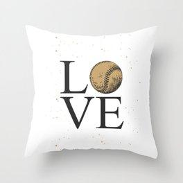I love baseball design style | for baseball lovers Throw Pillow