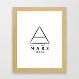 30 Seconds to Mars - stencil Framed Art Print