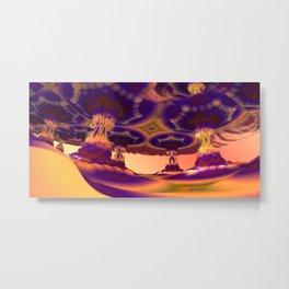Nevermore Colonnade (3D Fractal Digital Art) Metal Print