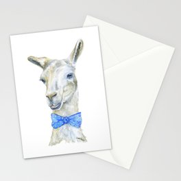 Llama with a Bow Tie Watercolor Stationery Cards