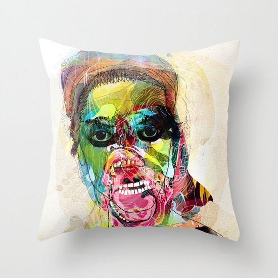 The human beast Throw Pillow