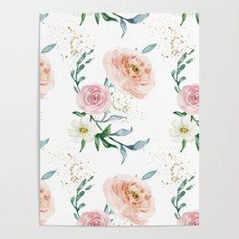 Rose Arrangement No. 1 Pattern Poster