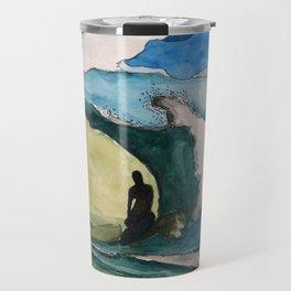 Watercolor Surfer Travel Mug