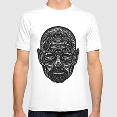 Walter White MEDIUM White Mens Fitted Tee