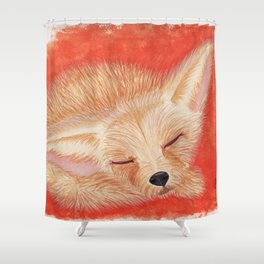 Sleeping desert fox/fennec watercolor Shower Curtain