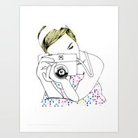 photographer Art Prints featuring Photographer by Diana Arend