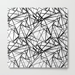 Black and white abstract geometric pattern . Metal Print