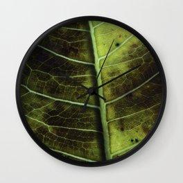 Leaf two Wall Clock