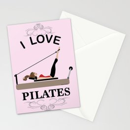 I love pilates Stationery Cards