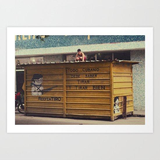 todo cubano debe saber tirar y rirar bien Art Print