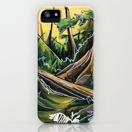 Filtered Forest iPhone Case