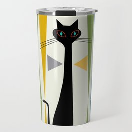 Mid-Century Modern Art Cat 2 Travel Mug