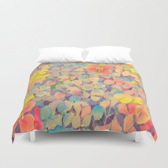 Summer Time Floral  Duvet Cover