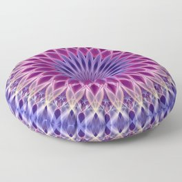Mandala in pastel blue and pink tones Floor Pillow