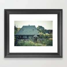 House in the mountains Framed Art Print