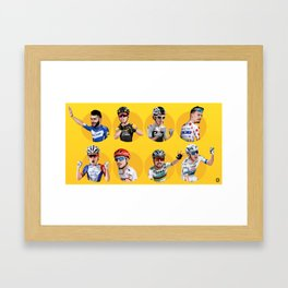 Tour de france 2018 caricatures Framed Art Print
