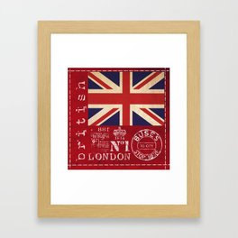 Union Jack Great Britain Flag Framed Art Print