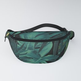 Tropical Jungle Night Leaves Pattern #1 #tropical #decor #art #society6 Fanny Pack
