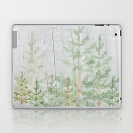 Pine forest on weathered wood Laptop & iPad Skin