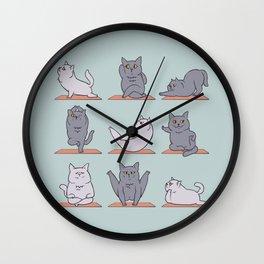 British Shorthair Cat  Yoga Wall Clock