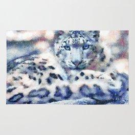 Snow Leopard Rug