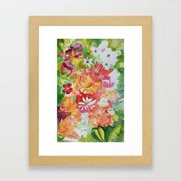Flower Riot Framed Art Print