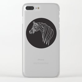 raya goods : modern pony (white) Clear iPhone Case
