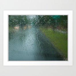 Lights in the Rain Art Print