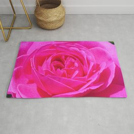 Artsy Pink Rose by Reay of Light Photography Rug