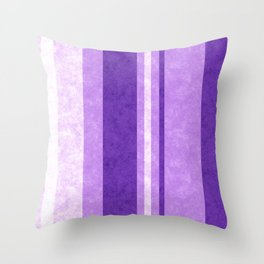 Retro Vintage Lilac Grunge Stripes Throw Pillow