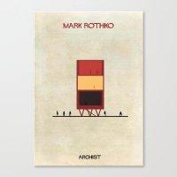 rothko Canvas Prints featuring Mark Rothko by federico babina