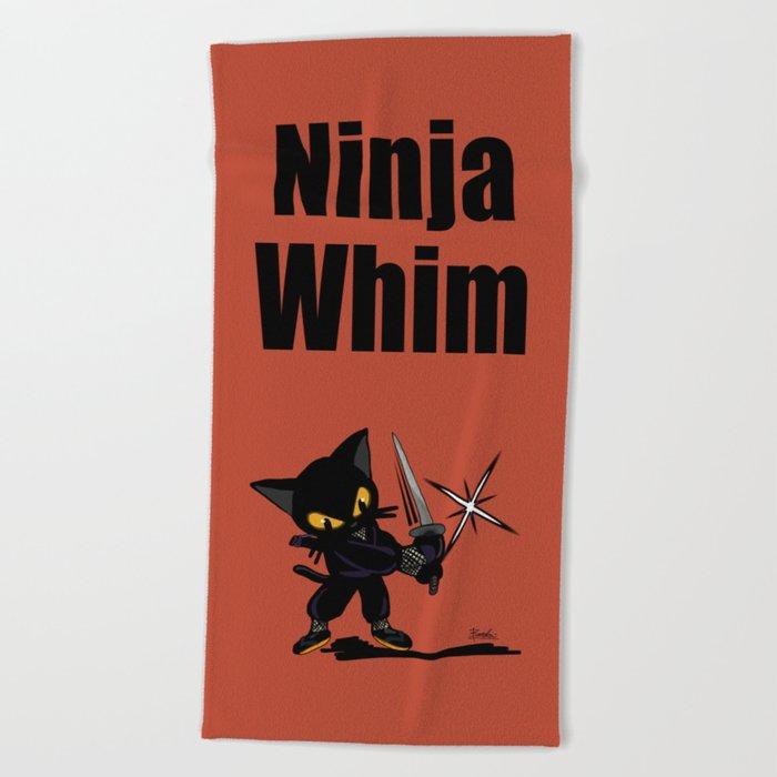 Ninja Whim Beach Towel