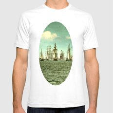 Windjammerparade Mens Fitted Tee White SMALL