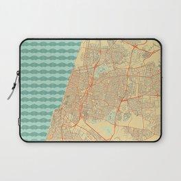 Tel Aviv Map Retro Laptop Sleeve