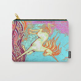 Mythical Unicorn Running in  Meadow Fantasy Art Carry-All Pouch