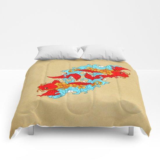 gold fish Comforters
