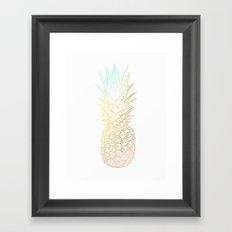 Ombre Gold Pineapple  Framed Art Print