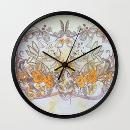 Twisted Twin Sisters Wall Clock