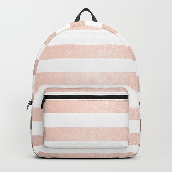 Simply Striped Moon Dust Bronze Backpack