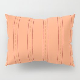 Simple design. Lines on an orange background. Pillow Sham