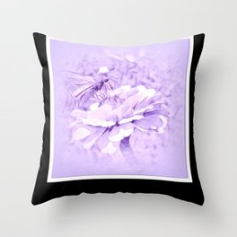 Violet Tones For The Butterfly Throw Pillow
