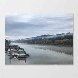 Fog Over the Willamette River Canvas Print