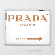 Rose gold copper PradaMarfa sign Laptop & iPad Skin