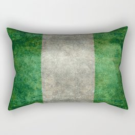 National flag of Nigeria, Vintage textured version Rectangular Pillow