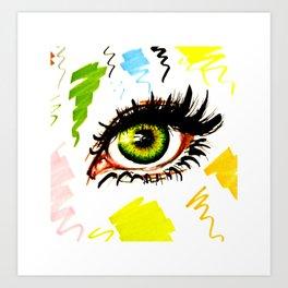 Green eye Art Print