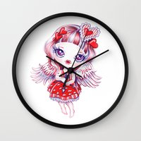 valentina Wall Clocks featuring Valentina by Sandra Vargas