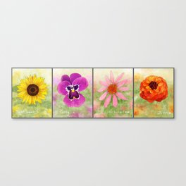 Four Flowers Canvas Print