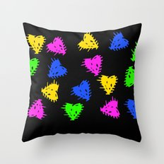 Scribbled Hearts Throw Pillow