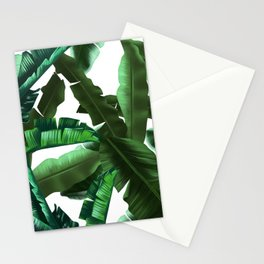 tropical banana leaves pattern 2 Stationery Cards
